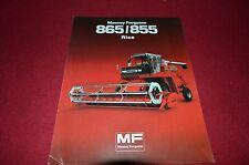 Massey Ferguson 865 855 Rice Combine Dealer's Brochure HVPA