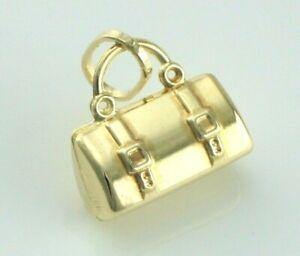 9ct Yellow Gold Handbag - Travel Holdall Pendant / Charm