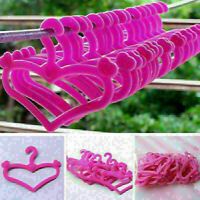 20* Plastic Kawaii Pink Hangers Accessories Gifts  for Doll Dress Clothes P U9M5