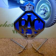 LAND Rover Serie 1 80 86 107 RAC sul pannello anteriore in metallo auto griglia Badge & Fissaggi