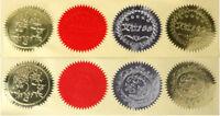 100 Color Paper Stickers Embosser Seal EZ stamp Wafer Label Serrated Certificate