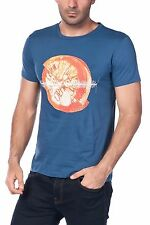 Hugo Boss Orange Navy Graphic Design Cotton Men's Regular Fit XXL T- Shirt NEW