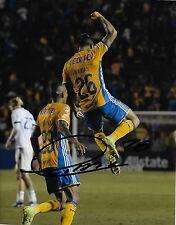 Tigres Uanl Eduardo Vargas Autographed Signed 8x10 Photo Coa A