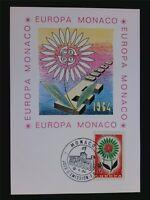 MONACO MK 1964 EUROPA CEPT MAXIMUMKARTE CARTE MAXIMUM CARD MC CM c6551
