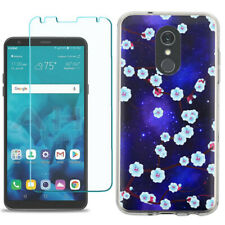 TPU Phone Case for LG Stylo 5 w/ Tempered Glass - Blossom Stars