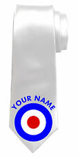 MOD TARGET PERSONALISED NECK TIE *ANY NAME/TEXT COLOUR*GREAT MEN'S GIFT/PRESENT*