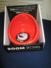 Cellphone MP3  Boom Bowl Ceramic Amplifies sound by 15 decibels RED Turn Up! New