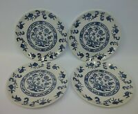 "Vintage BLUE ONION China 7"" Bread Dessert Plates - Set of 4"