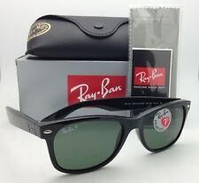 New Ray-Ban Sunglasses NEW WAYFARER RB 2132 901/58 55-18 Black w/Green Polarized