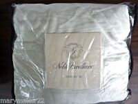 NEW-NOBLE EXCELLENCE KING PILLOW SHAM 'MOIRE' IVORY QUILTED 100% POLYESTER