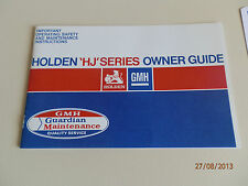 HOLDEN 1975 HJ OWNERS MANUAL.  100% GUARANTEE