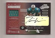 2001 PLAYOFF ROOKIE PREMIERE MATERIALS AUTOGRAPH TRAVIS MINOR DOLPHINS BOX # 42