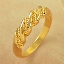 EMBOSSED 9K Yellow Gold Filled Mens Unisex Ring,size 7,Z2605