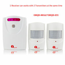 Driveway Patrol Wireless Alarm Alert Chime Secure System 2 Motion Sensors 100M