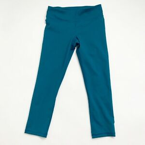 Under Armour HeatGear Capri Leggings Cropped Pants Teal Womens Size Small