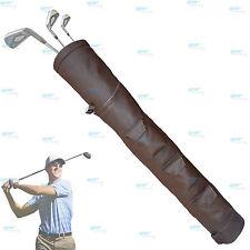 Brown  Rx F Leather Golf Club Ball Bag Three Pockets H-34inch D-5.5inch NEW