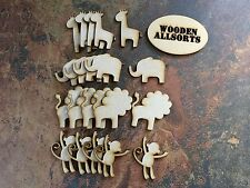 Zoo Animal Shapes, Wooden 3mm MDF 20 assorted shapes
