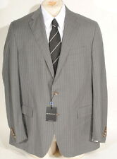 Ralph Lauren Polo Virgin Wool Grey 2 Button Pinstripe Suit 46L 38W Italy $1595