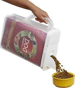 Pet Food Storage Bird Seed Container and Dispenser 8-Qt with Flip Lid 8 Quart
