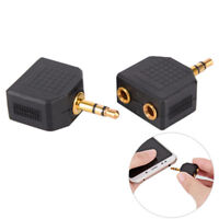 Stereo 3.5mm Audio Jack Male to Dual 3.5mm Earphone Y Splitter Adapter Plug EO