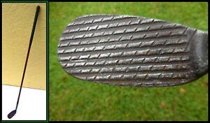 Antique Wood Shaft Golf Club1915 BAKSPIN Deep Groove RIB-ANGLE  Mashie Niblick