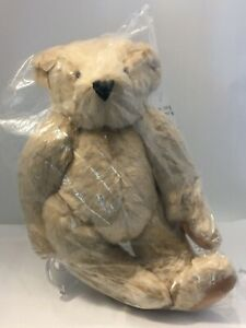 """Authentic Classic Vermont Teddy Bear Plush Stuffed Animal Jointed Tan Fur 15""""L"""