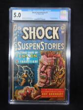 Shock SuspenStories #7    CGC 5.0   Classic Electrocution Cover