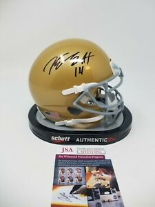 Kyle Hamilton Notre Dame Autographed Signed Schutt Mini Helmet Irish JSA Witness