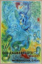 MARC CHAGALL Magic Flute (Die Zauberflote) Mourlot Lithograph 39-1/2 x 26-3/4