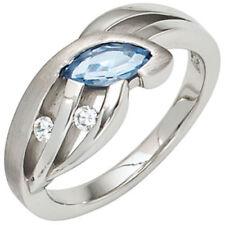Echtschmuck-Ringe im Band-Stil aus Sterlingsilber ohne Stein