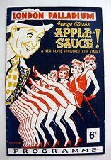 Authentic 1941 London Palladium Theatre Programme George Blacks Applesauce
