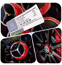 Mercedes AMG X 4 casquillos de centro de rueda rojo 75MM se adapta a B C E M A45 clase C63 C43 E63
