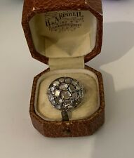 cluster ring, silver & gold Rare early Georgian table cut diamond