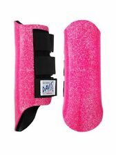 Davis Horse BOOTS Classic Splint Brushing Jumping Protection Pink Glitter Medium