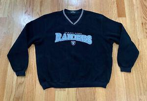 Vintage Oakland Raiders Fleece Sweater Antigua NFL Mens XL