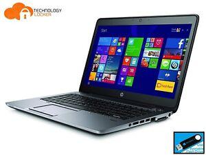 "HP Elitebook 840 G2 14"" Laptop Intel i5-5300U 2.30GHz 8GB RAM 128GB SSD Win 10"