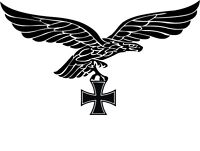 Air Force Imperial Eagle Car Sticker 20 x 13 Eagle Germany Iron Cross