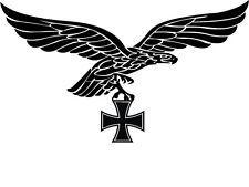 Luftwaffe Reichsadler Auto Aufkleber 30 x 20  Adler Deutschland Eisernes Kreuz x