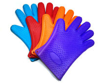 Kitchen Silicone BBQ Heat Resistant Gloves Oven Grill Pot Holder Cooking Mitts