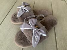 Femmes Filles Coolers Fausse Fourrure Tactile Fermeture Bottines chausson Pantoufles Taille 3-8