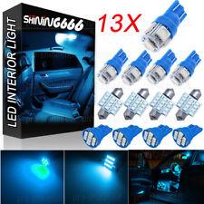 13x Ice Blue W5W T10 31mm 3021 Festoon Bulb Interior Package Kit Dome Map Light