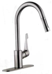 Hansgrohe 04571805 Cento KHM High Arc Kitchen Faucet - Steel Optic
