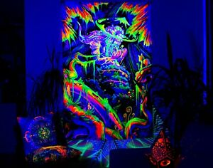 Blacklight Active Backdrop Tapestry Artwork UV Active Fluorescent Wall Decor
