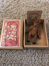 "Boyds Bears & Friends The Shoe Box Bears Hand Painted Thaddeus ""Bud"" Grizberg"