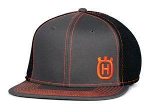 Husqvarna Xplorer Flat Bill Hat - Gray/Orange