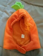 Childrens Place Halloween Pumpkin Fleece Bat Hat 12-18 Months EUC