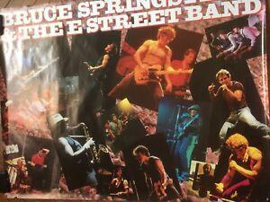rare vintage BRUCE SPRINGSTEEN large promo poster LIVE 1975 -85