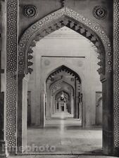 1928 Original INDIA Fatehpur Sikri Interior Jama Masjid Photo Art By HURLIMANN