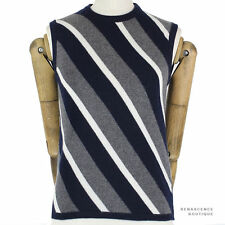Medium Knit Striped Sleeveless Jumpers & Cardigans for Women