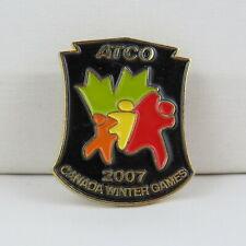 Juex Canada Winter Games Pin - 2007 Whitehorse Yukon - Atco Sponsor Pin